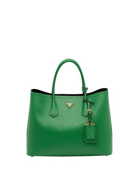 Saffiano Cuir Double Bag, Green (Verde)