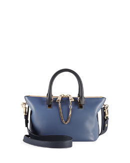Chloe Baylee Mini Satchel Bag, Navy