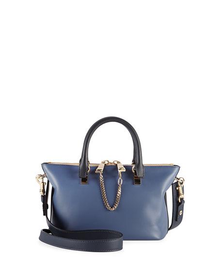 Baylee Mini Satchel Bag, Navy