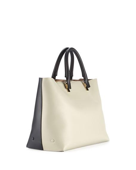 Chloe Baylee Bicolor Tote Bag, Gray/Black
