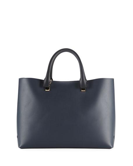 Baylee Bicolor Tote Bag, Navy
