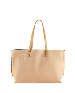 Chloe Dilan East-West Leather Tote Bag, Beige