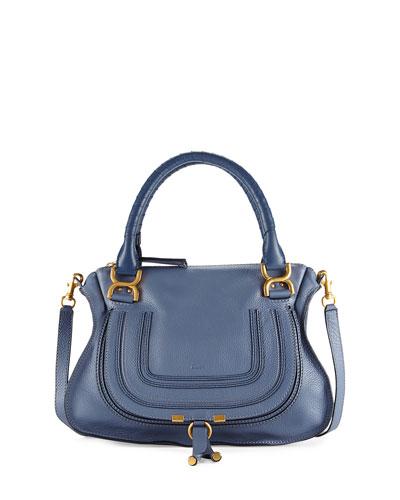 Chloe Marcie Medium Satchel Bag, Medium Blue