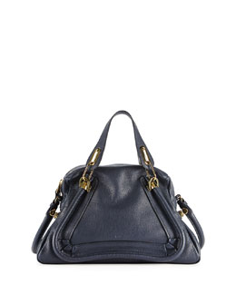 Chloe Paraty Shoulder Bag, Navy