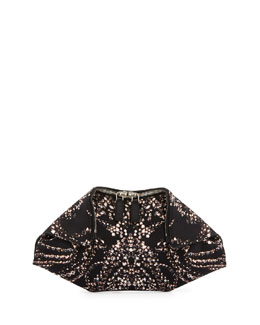 Alexander McQueen Jewel-Print Small De-Manta Clutch Bag