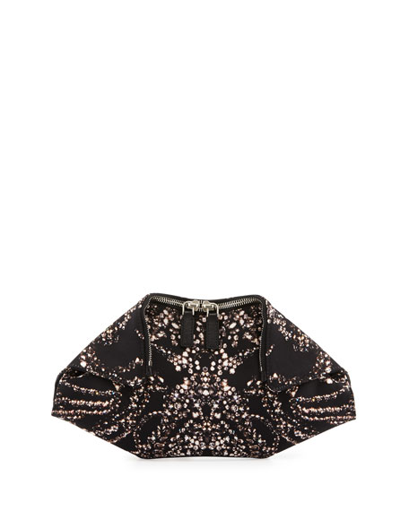 Jewel-Print Small De-Manta Clutch Bag