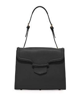 Alexander McQueen Heroine Flap Shoulder Bag, Black