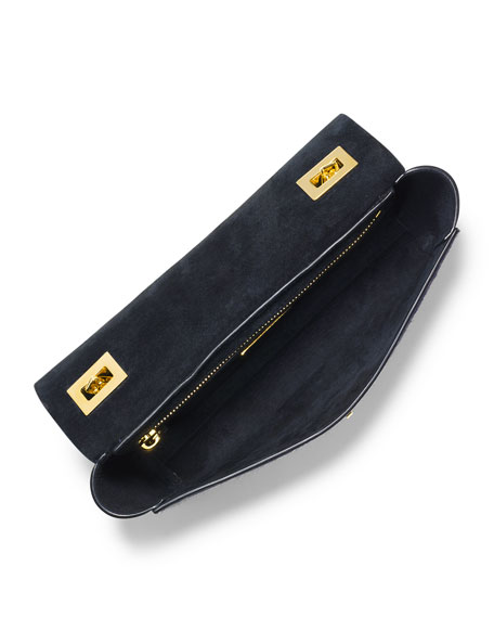 Vivian Calf-Hair Shoulder Flap Bag