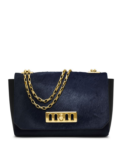 Michael Kors  Vivian Calf-Hair Shoulder Flap Bag