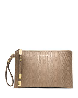 Michael Kors Large Harlow Zip Clutch