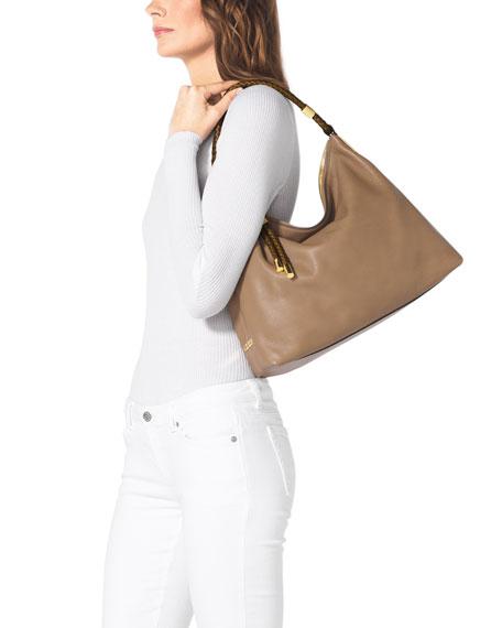7d42a9dac3e2 Michael Kors Skorpios Top-Zip Hobo Bag