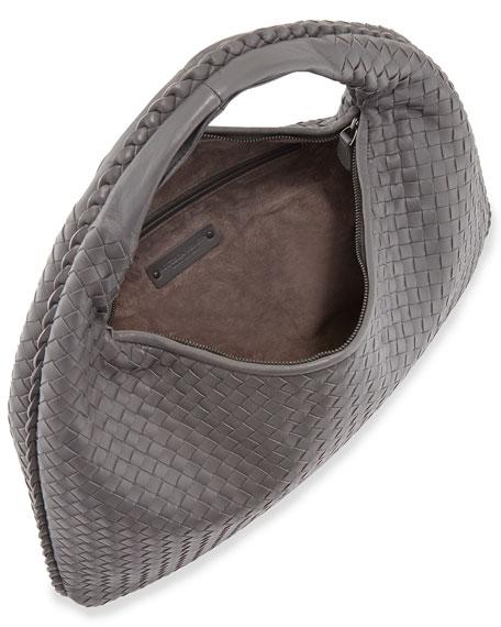 Veneta Large Hobo Bag, Gray