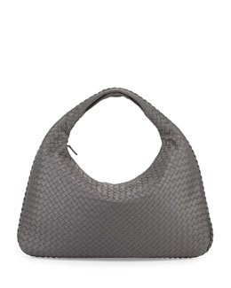 Bottega Veneta Veneta Large Hobo Bag, Gray