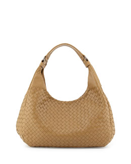 Bottega Veneta Intrecciato Medium Hobo Bag, Sand