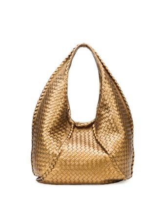 fd5b06a6b6d9a Available for Bottega Veneta - Cervo Large Metallic Hobo Bag; Bronze ...