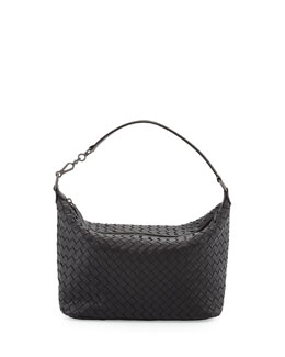 Bottega Veneta Small Zip Hobo Bag, Black