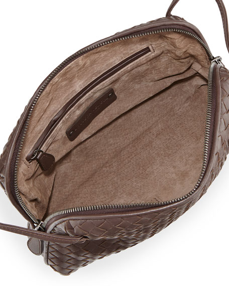 Veneta Small Messenger Bag, Dark Brown