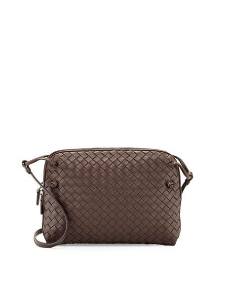 Veneta Small Messenger Bag, Dark Brown