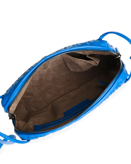 Veneta Small Messenger Bag, Cobalt Blue