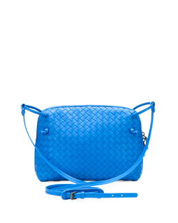 Bottega Veneta Veneta Small Crossbody Bag, Cobalt Blue