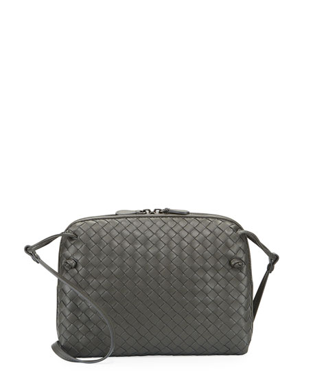 Bottega VenetaIntrecciato Messenger Bag, Gray
