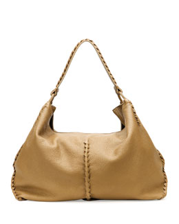 Bottega Veneta Cervo Large Shoulder Bag, Sand