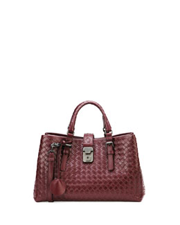 Bottega Veneta Roma Leggero Tote Bag, Dark Purple