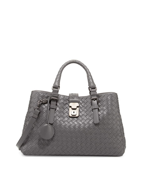 Bottega Veneta Roma Leggero Small Tote Bag, Gray