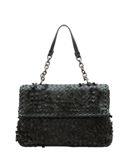 Bottega Veneta Olimpia Tobu Fringe Shoulder Bag, Black