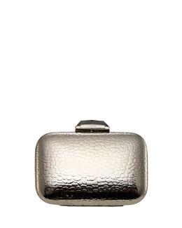 Kotur Morley Croc-Embossed Minaudiere, Silver