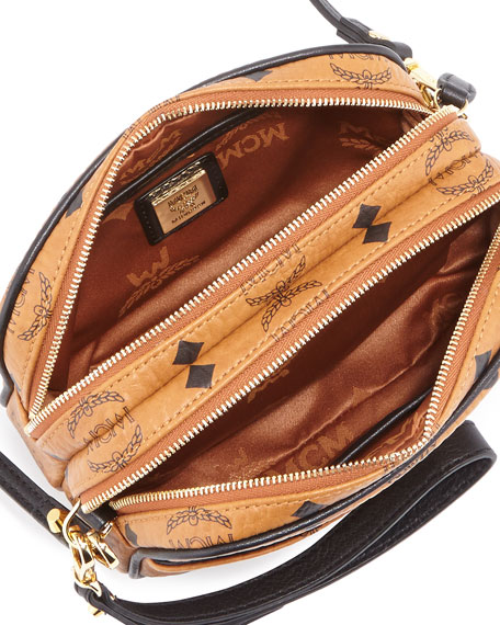 Visetos Mini Crossbody Bag Cognac