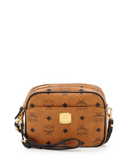 9f7b0be82 MCM Visetos Mini Crossbody Bag, Cognac