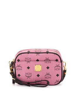 MCM Visetos Mini Crossbody Bag, Pink