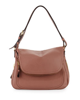 Tom Ford Jennifer Fold-Over Shoulder Bag, Rose