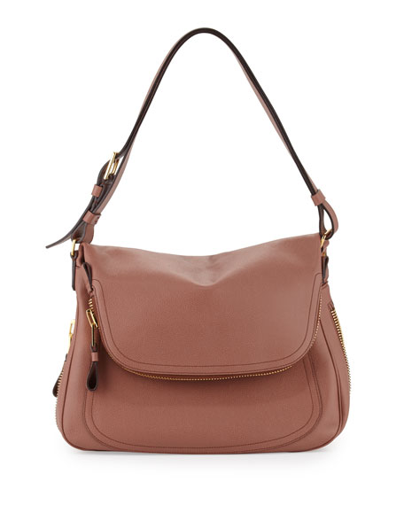 Jennifer Fold-Over Shoulder Bag, Rose