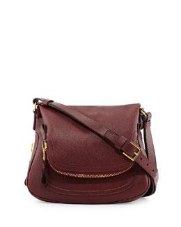 Tom Ford Jennifer Medium Leather Shoulder Bag, Red
