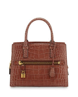 Tom Ford Charlotte Alligator Tote Bag, Rose