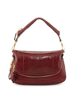 Tom Ford Jennifer Medium East/West Python Shoulder Bag, Red