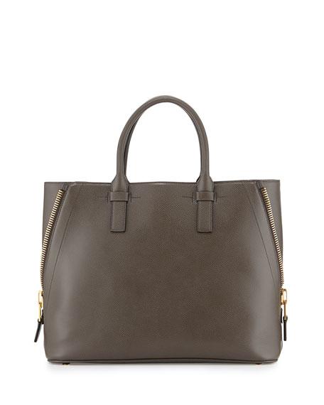 Jennifer Medium Trap Tote Bag, Graphite