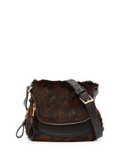 Tom Ford Jennifer Mini Calf Hair Crossbody Bag, Cognac/Brown