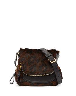 Tom Ford Jennifer Mini Calf Hair Crossbody Bag, Cognac/Brown