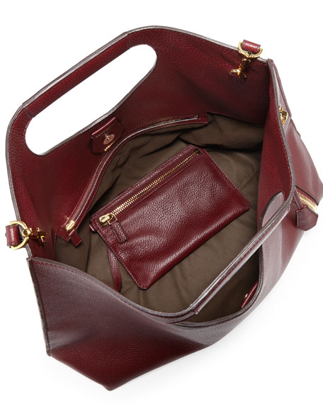 Alix Zip & Padlock Shopper Tote Bag, Red