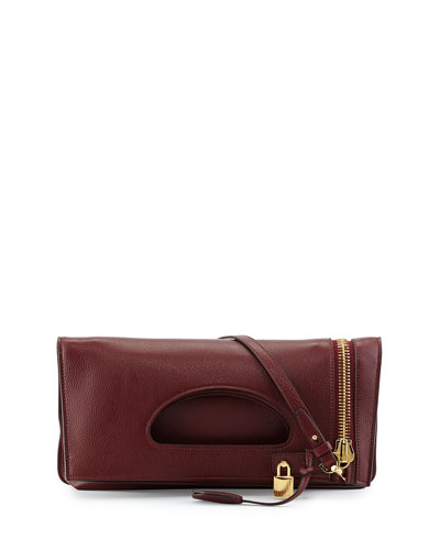 Tom Ford Alix Zip & Padlock Crossbody Bag, Red
