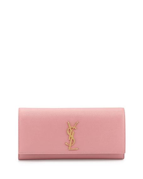 Cassandre Calfskin Clutch Bag, Pink