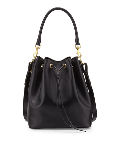 Medium Bucket Shoulder Bag, Black