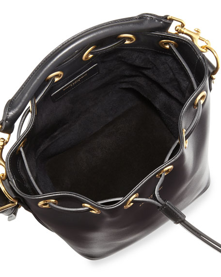Small Bucket Crossbody Bag, Black