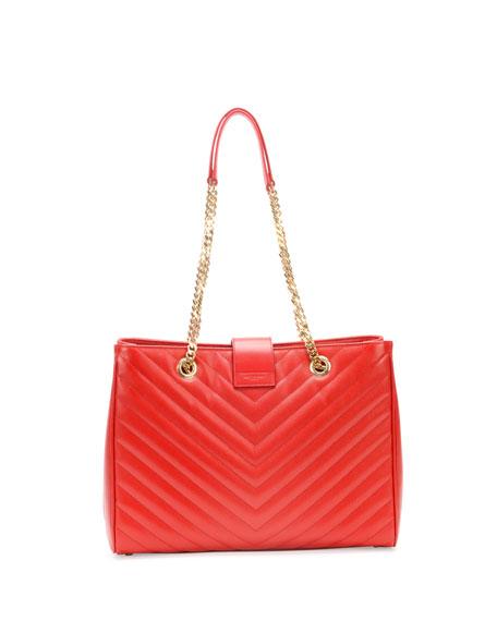 Monogram Matelasse Shopper Bag, Red