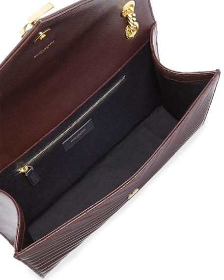 Monogram Matelasse Shoulder Bag, Bordeaux