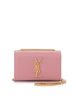 Saint Laurent Cassandre Small Crossbody Bag, Pink
