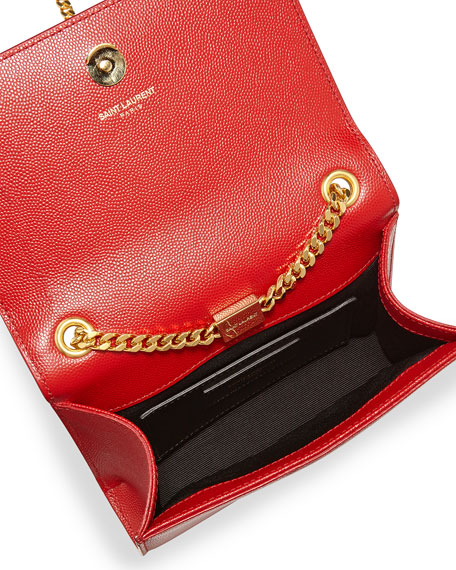 Monogram Small Crossbody Bag Red Yves Saint Laurent Prices